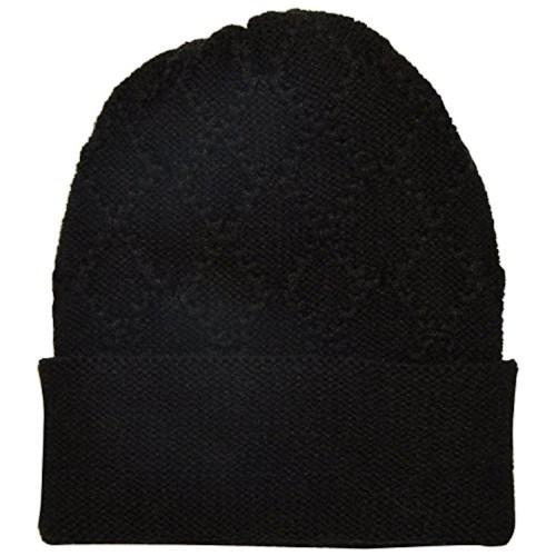 Woolen Skull cap For Women - Black