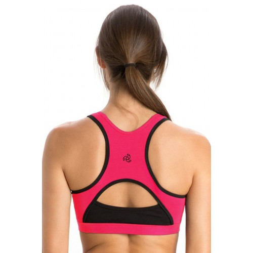 c6f15b2a01 ... Jockey Power Back Padded Active Wirefree Sports Bra- Black n Pink ...