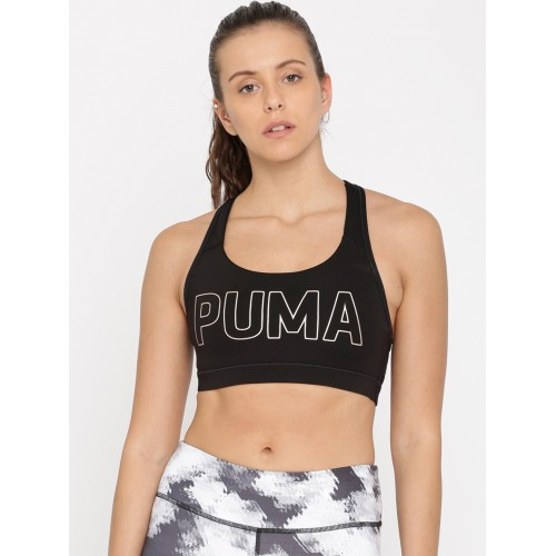 b4424ac732779 ... Puma Black Printed Non-Wired Non-Padded PWRSHAPE Forever Sports Bra  51599102 ...