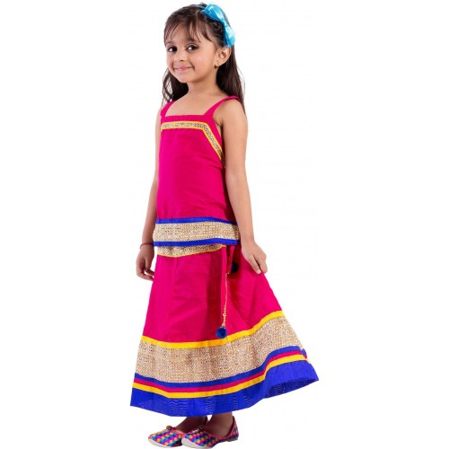 5d731504d862 Buy Magnus Girls Lehenga Choli Ethnic Wear Self Design Lehenga Choli ...