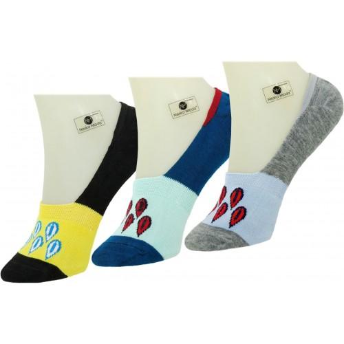 Neska Moda Men & Women Solid No Show Socks