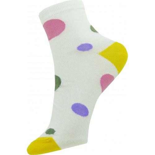 Neska Moda Women's Polka Print Ankle Length Socks