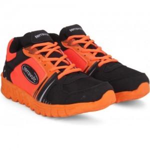 Terravulc Orange & Black Running Shoes