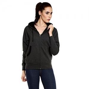 Goodtry Women's Cotton Hoodies-Charcoal Melange