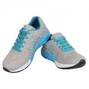 Bersache Men Grey Sport Running Cricket Shoes