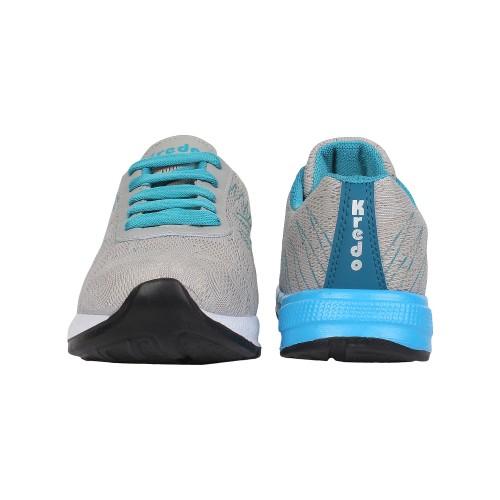Earton Men Grey EVA Sports Cricket Running Shoes