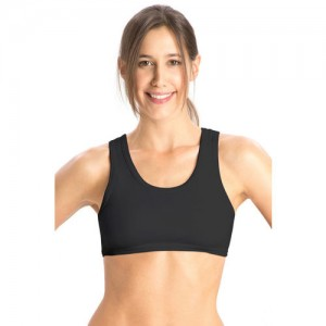 Jockey Black Cotton Sport Bra