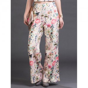Uptownie Pearl cream floral jersey palazzo