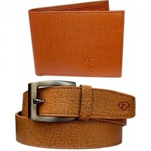 Fashius Men Tan Artificial Leather Belt