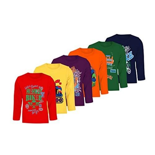 9ea77d106f51f Buy Kiddeo Boys Full sleeve t shirts (pack of 6) online