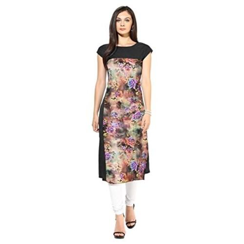 Buy Ziyaa Women S Straight Fit Synthetic Kurta Amazon In Clothing