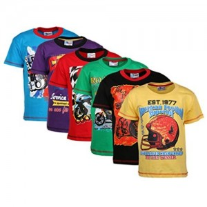 ETEENZ Boys T Shirt Half Sleeves Pack Of 6 (8903541598680_Multicolor_5 6 Yrs)