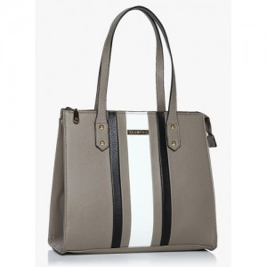 Addons Grey Colourblocked Shoulder Bag