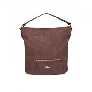 Lavie Brown Textured Hobo Bag