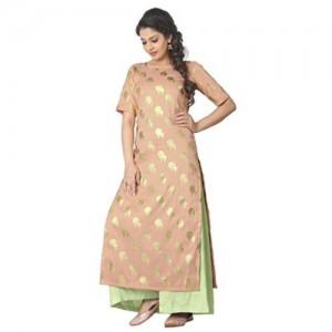 Ziyaa Women's Straight Fit Synthetic Kurta