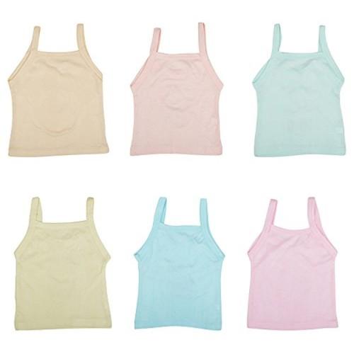 kuchipoo Girls' Regular Fit Cotton Slip (Pack of 6)