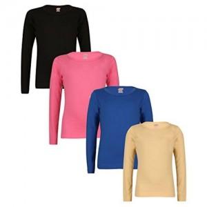 Sinimini plain full sleeve girls tops (pack of 4)