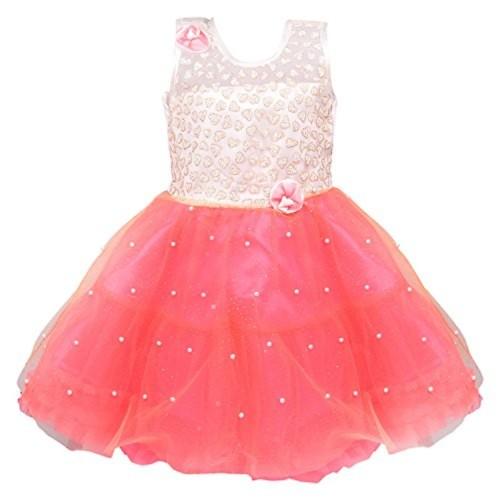 17ca2c49c2f8 ... Wish Karo Baby Girls Party Wear Frock Dress DN (fe2215t, ...