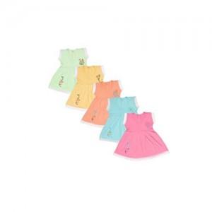Jo Kids Wear Baby Girls Frock Set (4069_Multicolour_6 - 12 Months)