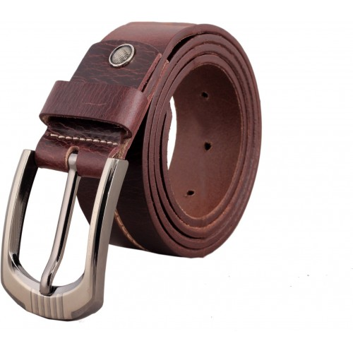 Vener Fabica Men Casual, Evening, Formal, Party Brown Genuine Leather Belt