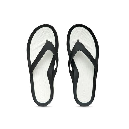 843f5ea7351a Buy Crocs Women Black   White Solid Thong Flip-Flops online ...