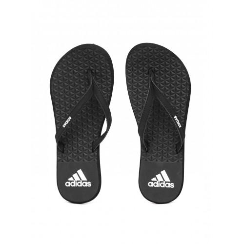 244c90ac6 Buy Adidas Women Black EEZAY SOFT Textured Flip-Flops online ...