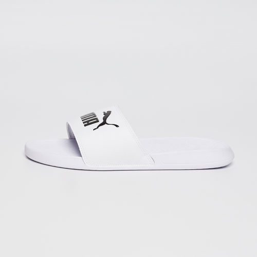 Puma Unisex White Popcat Flip-Flops