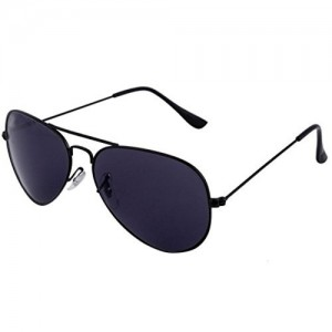 SHVAS AVIATOR Black Sunglasses - UNISEX (Black)