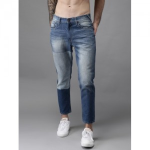 HERE&NOW  Blue Tapered Fit Mid-Rise Clean Look Jeans