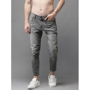 HERE&NOW Grey Slim Fit Mid-Rise Clean Look Stretchable Ankle Jeans
