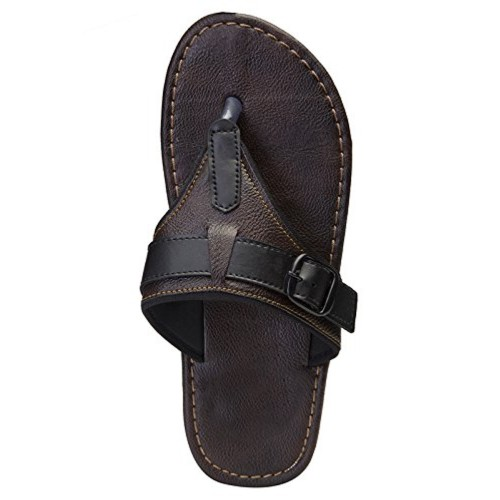 Butchi Brown synthetic leather Chappals