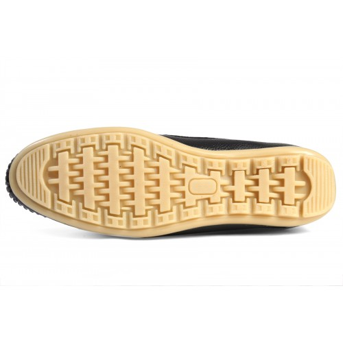 Baton Black Synthetic Slip-On Loafers