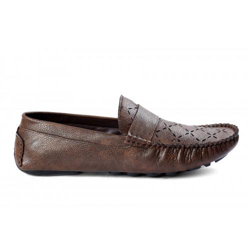 Baton Brown Styylish Slip-On Loafers
