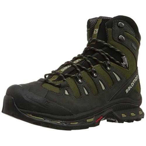 Salomon Black & Olive Nubuck Leather Boot