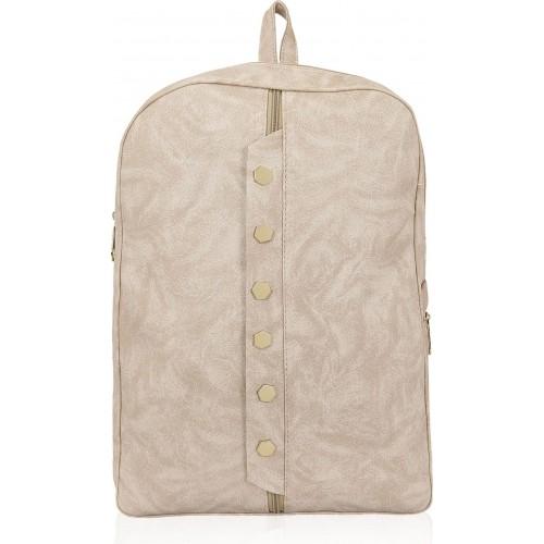 12f72648ba55 ... Kleio Beige Designer Backpack for College  Office Women 10 L Backpack  ...