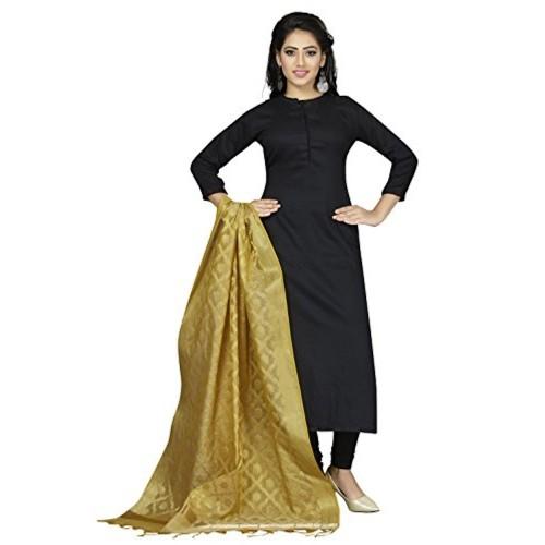 Rani Saahiba Golden Cotton Silk Dupatta