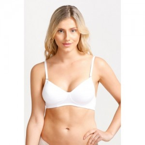 Enamor Invisible Non Padded Non Wired Multiway Bra-White
