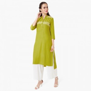 MAX Embroidered High Low Kurta