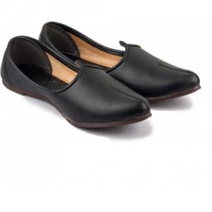 Tashi Black Leather Jalsa Jutis