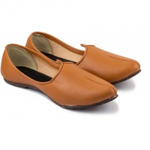 Tashi Brown Leather Slip On Jutis