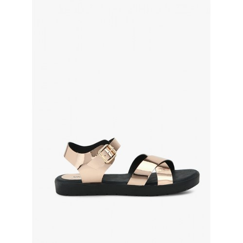 Lavie Golden Metallic Sandals