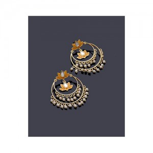 Voylla Ombre Diya Earrings Orange