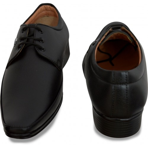 Feetway Black Synthetic Leather Lace Up Formal Shoe