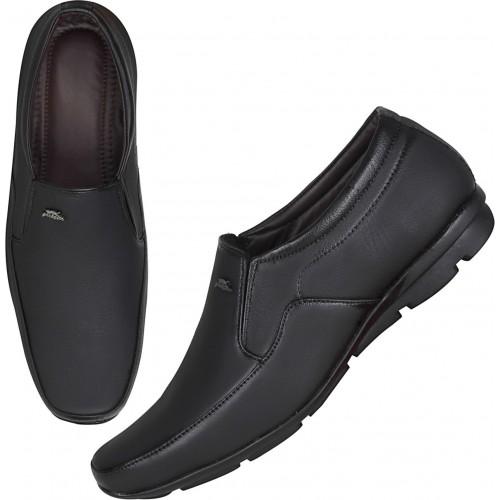Kraasa Klassic Black Slip On Formal Shoes