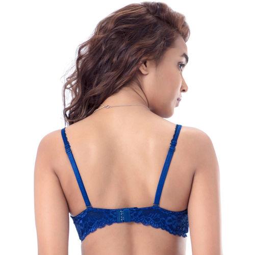 PrettySecrets Blue Self Pattern Bra