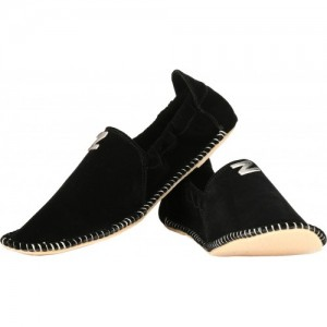 ZebX Black Slip On Mojaris