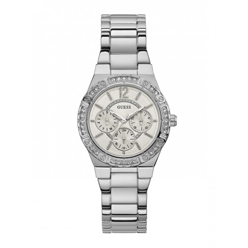 GUESS Women White Analogue Watch W0845L1