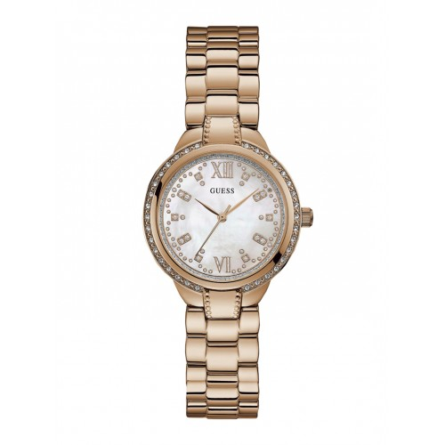 67f8e3f61 Buy GUESS Women White Analogue Watch W1016L3 online | Looksgud.in
