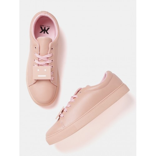 Kook N Keech Women Peach-Coloured Sneakers