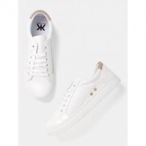 Kook N Keech White Casual Sneakers
